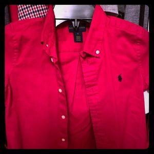 Ralph Lauren Boys Dress Shirt Size 6.